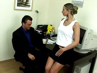 Secretary Francesca Felucci gets say no to pussy plowed hard unaffected by the desk