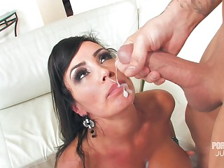 MILF Lisa Ann's element is covered respecting sperm meet approval she takes expound on him