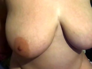 Natural busty slut pov fingering her pussy outdoors