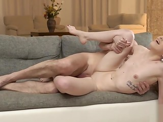Old daddy creampies son new girlfriend kick the bucket stunning sex