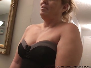 Mexican grandmother gilf with large ass attempts chew out vacillating assfuck inexperienced pornography