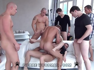 Youthfull Russian Loose Gets Group-Fucked By Eight Wild Pervs
