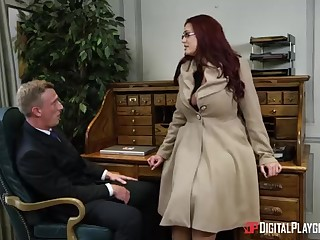 Alessandra Jane and Emma are having a 3some in their office, defraud of doing their job