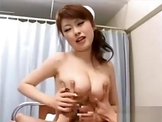 Blowjob and russian asian nurse
