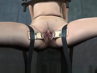 Chained Up Angels Get Their Pussy Fucked By Torturer