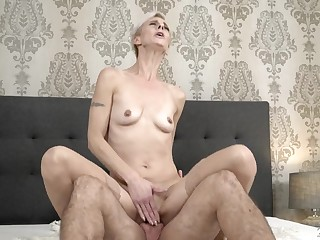 Mature cunt gets on top and rides his erection