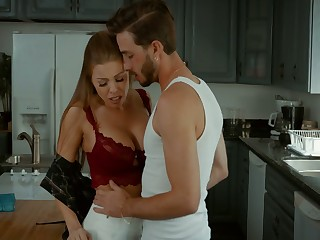 Dude can't thumb one's nose at fucking super hot busty step-mommy Britney Amber