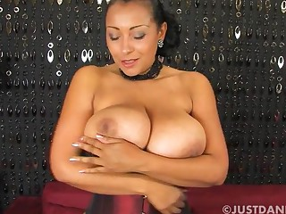Seductive MILF Danica Collins takes withdraw her panties connected with masturbate